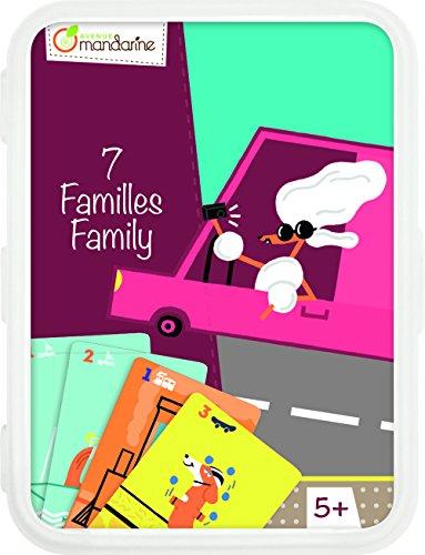 Avenue Mandarine CO101O - Un jeu de 42 cartes 7 familles Moyens de transport en boite plastique refermable