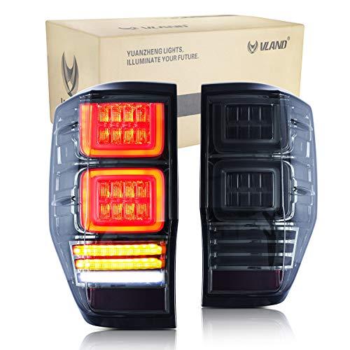 VLAND LED Bar Rückleuchten Set für Ranger T6 T7 PX MK1 MK2 Wildtrak 2012-2018 Rücklicht sequentieller Blinker
