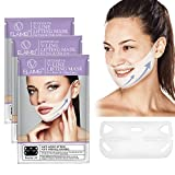 ELAIMEI V Shaped Slimming Face Mask 4 Packs, Double Chin Reducer Sleeping Mask Facial Face Mask for Firming and Tightening Skin Peel Off Masks Facial Treatment Skin Care for Women