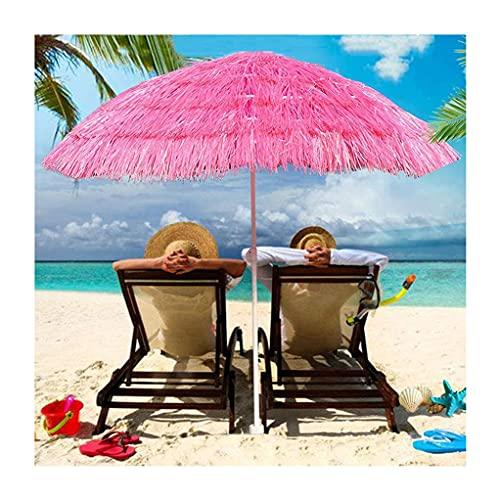 Ombrello da Patio in Paglia da 7,8 Piedi Tiki,Ombrellone da Spiaggia Antivento Regolabile in Altezza,Tetto in Paglia Palapa in Stile Hawaiano con Ombrellone da Tavolo con Ombrellone con Frange