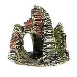 MERIGLARE Resina Montaña Rocalla Ornamento Acuario Pecera Decoración de Paisaje Acuático - montaña rocalla
