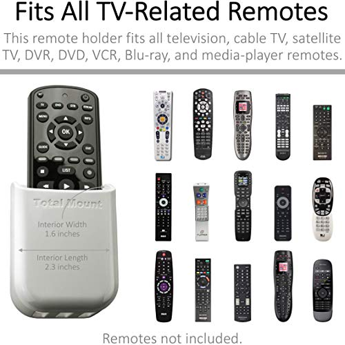TotalMount Universal Remote Holders (Quantity 2 - One Remote per Holder - White)