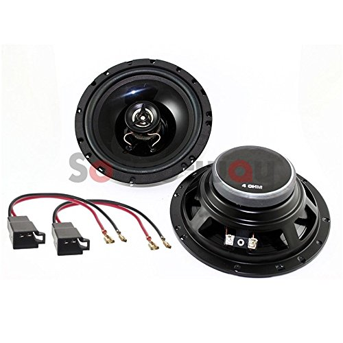 Sound-way Luidsprekers Autoradio Speakers 16,5 cm compatibel met Citroën C3, C4, C5, C8