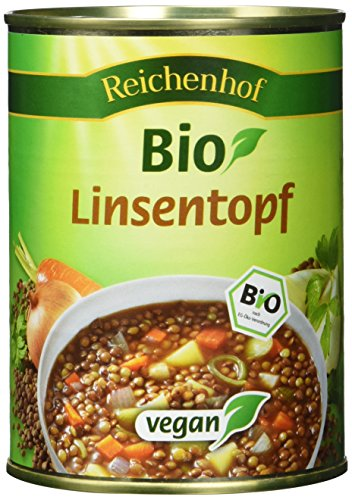 Reichenhof Linseneintopf vegan, 6er Pack (6 x 560 g) - Bio