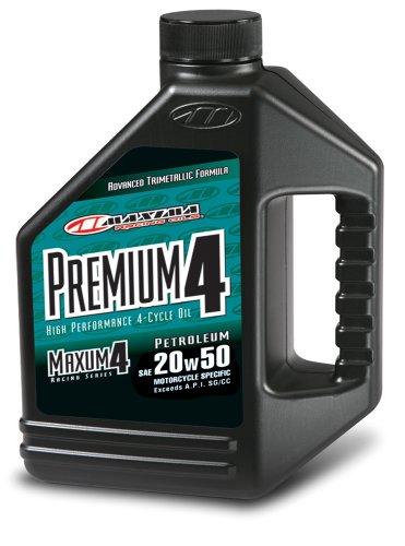 Maxima (359128 Premium4 20W-50 Motorcycle Engine Oil - 1 Gallon