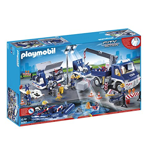 Playmobil 5097 l'agence de secours technique aux sinistrés - opération de grande envergure -