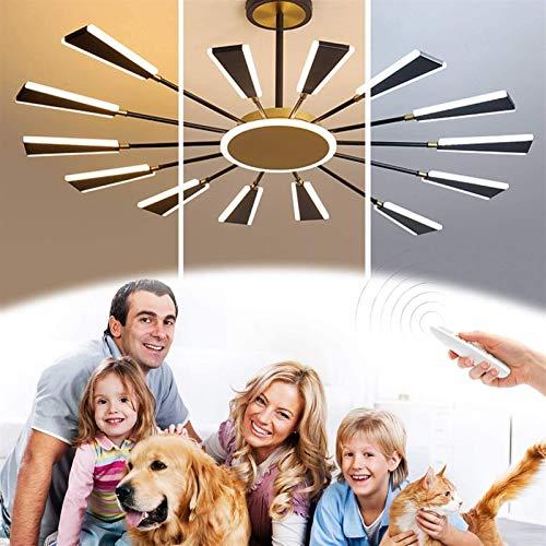 ZRBD-xh Luz Ligera Moderna Luz de Techo,Estilo Simple Araña Colgante con Control Remoto Color Temperatura/Brillo Dimmable,77W,para 20-25㎡Salones,Comedor (Size : Pendelleuchte)