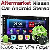 TUNEZ Autoradio stéréo Bluetooth MP3 MP4 USB compatible avec Juke Micra Navara (D22 D40) Note NV200 Combi Pathfinder Qashqai X-Trail