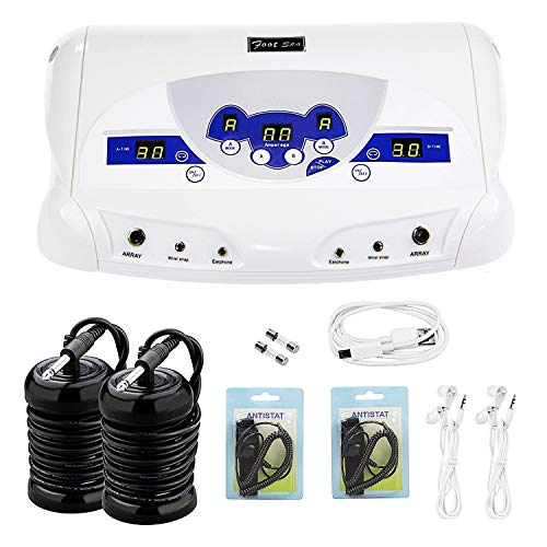 Dual Ionic Detox Foot Machine, Professional Ion Detox Foot Spa Ionic Detox Aqua Foot Cleanse Machine with Mp3 Player