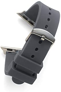Flat Cool Grey SILCONE 22MM for 42MM Apple Watch