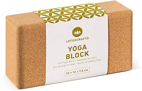 Lotuscrafts Brique Yoga en liège Supra Grip - Fabrication écologique - liège Naturel du Portugal - Yoga Block - Bloc Yoga - Brique de Yoga - Yoga Brique - Brique Yoga liège
