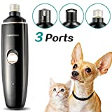 rabbitgoo Dog Nail Grinder, Powerful and Low Noise Pet Nail Trimmer, Electric Rechargeable