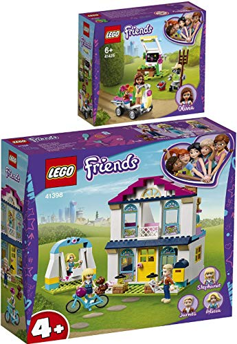 Bundle LEGO Friends 41398 41425 Stephanie's House + Olivia Flower Garden