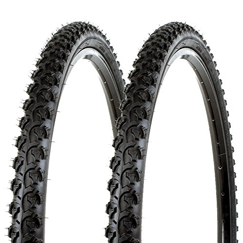 Sunlite Bicycle K831 Alpha Bite Mountain Tires PAIR 26x1.95' Black Trail Knobby