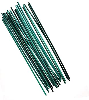 kungfu Mall Plant Support Sticks Wood Plant Stake 50 Pcs Green Flower Sticks Split Support Cane Garden Plant 12 Inch Canes for Home & Garden