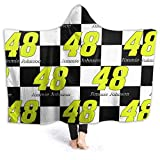FGHFGHF Jimmie Johnson Wearable Blanket Fleece Hooded Robe Cloak Throw Quilt Poncho Microfiber Plush Warm Wrap for Watch Tv Sofa Lounge Bed Napping