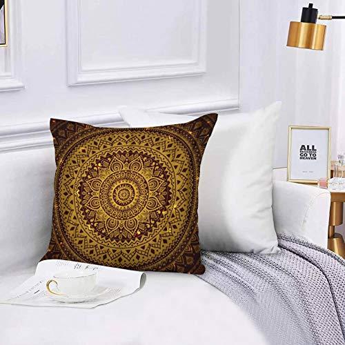 Funda de algodón 45 x 45 cm Mandala India Hermosa de la Boda de la Vendimia Cultura árabe Abstracta del cordón, Sofá Throw Cojín Almohada Caso de la Cubierta para Sala de Estar 45x45cm