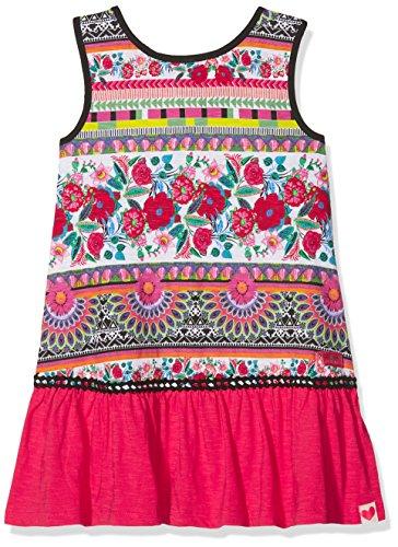 Desigual Vest_Monrovia Vestido, Rojo (Carmin 3000), 140 (Talla del Fabricante: 9/10) para Niñas