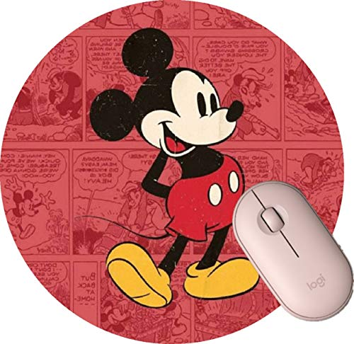 Round Gaming Mouse Pad Round Mousepad for Computer,Funny Gift Non-Slip Mouse Mat -Disney Mickey Mouse