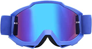 Sunglasses Fashion Accessories Off-Road Motorcycle Goggles Goggles Film Anti-Wind Riding Goggles to Protect Eyes (Color : Blue)
