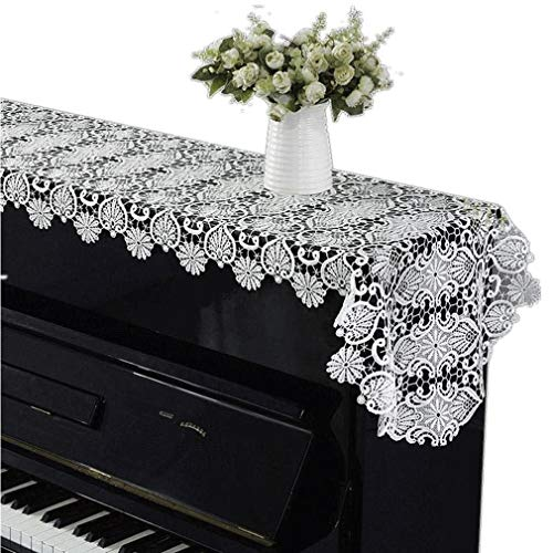 Buy Discount Piano cover Simple and Modern White Lace Embroidered Cloth Towel European Dustproof Hal...