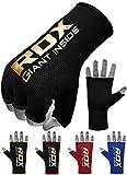 RDX Boxe Bandage Bandes MMA Sous Gants Protège Poignet Bande Muay Thai - Noir/Rouge - Medium