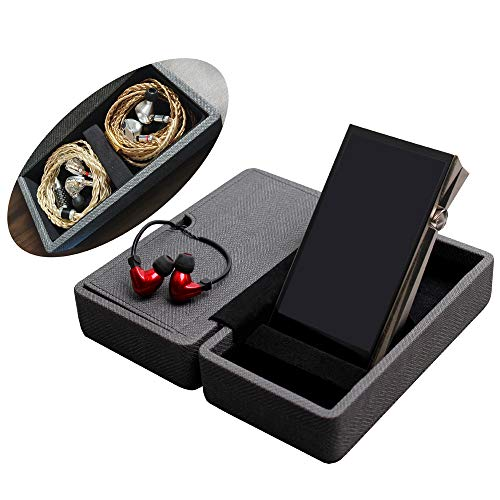 MITER Funda Carcasa para reproductor de música y auriculares, de hecho a mano Hard Carrying Case Cover - Black