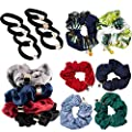 Scrunchie Pack, Cute Hair Scrunchies, Hand Made Quality Hair Ties, Super Soft, Strong Scrunches, Scrunchies for hair, Big Scrunchie Pack, Colorful Kids Scrunchie, Beautiful Charms, DAUGHTERS LOVE THEM