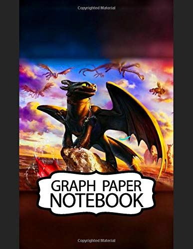 Notebook: How To Train Your Dragon Hiccup Astrid Cute Toothless Night & Light Fury And The Viking Village Hidden World, Soft Glossy Cover Teenage Girls Boys Kids Adults Paper 8.5 x 11 Inches 110 Pages