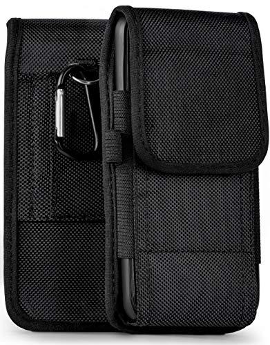 moex Agility Hülle für Nokia 800 Tough - Hülle mit Gürtel Schlaufe, Gürteltasche mit Karabiner & Stifthalter, Handytasche aus Nylon - Schwarz
