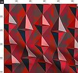 Rot, Damast Stoffe - Individuell Bedruckt von Spoonflower -