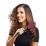 Dashingzone 2 in 1 Simply Hair Straightener Straight Ceramic Hair Straightener Brush Perfectly Straight Hair Brush and Comb for Women (Black)