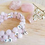 Bracelet d'allaitement quartz rose - permet de noter l'heure de la dernière tétée ou dernier biberon - modèle Ponleak°