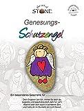 The Art of Stone Genesungs Schutzengel - Naturstein Handbemalt Unikat- Glücksbringer, Mutmacher & Trostspender