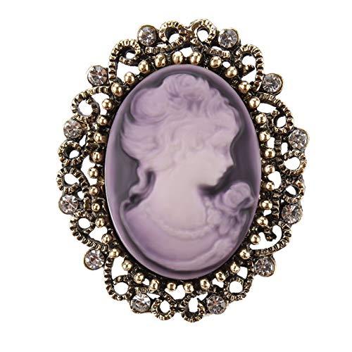Qylfsxb Broche Broche De Camafeo De Reina Vintage para Mujer