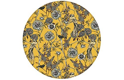 Gelbe florale viktorianische Tapete