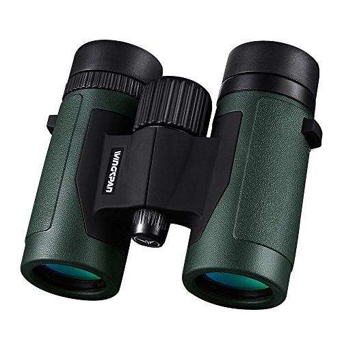 Wingspan Optics Pioneer 8X32 Compact Binoculars for Bird Watching. Wide View for Hours of Bright, Clear Birding. Lightweight and Durable. Great for Outdoor Sports Games and Concerts