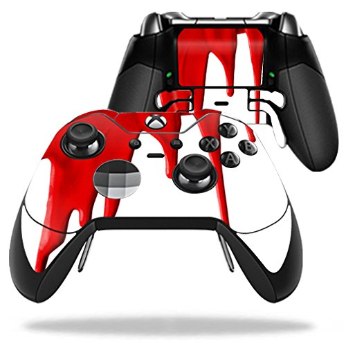 MightySkins Skin Compatible with Microsoft Xbox One Elite Wireless Controller case wrap Cover Sticker Skins Blood Drip