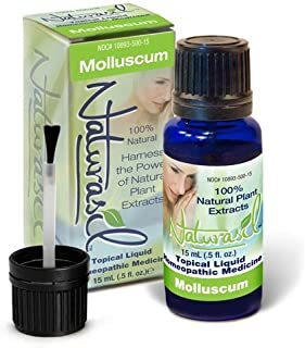 Naturasil for Molluscum - All Natural, Homeopathic, No Acids, Pain Free, for Children and Adults, Made in USA 15ml