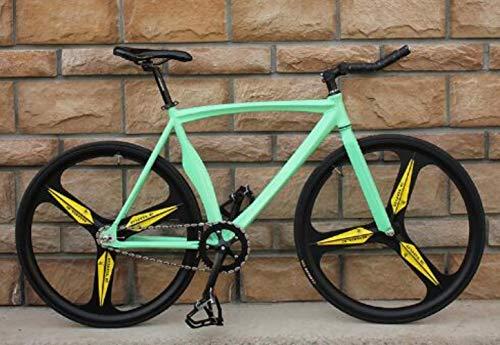 NTR Bicicleta Cuchillo de Bicicleta de Engranaje Fijo de aleación de Aluminio con llamativos Hombres y Mujeres Adultos, Bianchi, 52 cm (175 cm-190 cm)