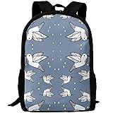 fsfsdafsaBags Humming Bird Blue 3D Print Sac à Dos de Voyage College School Laptop Bag Daypack Travel Shoulder Bag for Unisex