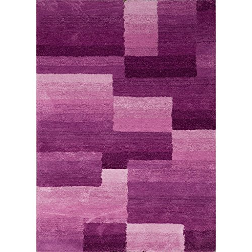 SESO UK- Épaississement Tapis Doux Mixte Couture Salon Chambre Tapis - Épaisseur: 2.5cm (Couleur : Violet, Taille : 140X200cm)