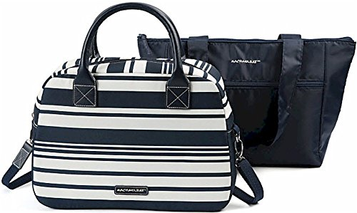 """Rachael Ray Insulated Satchel and Tote Combo, 13 3/8""""H x 10 1/2""""W x 5 1/4""""D, Navy"""