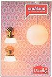 Lundby 60.6044.00 -Lampenset,Deckenleuchte und 2 Wandleu, Minipuppen mit Zubehör