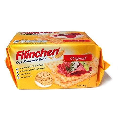 5er Pack Filinchen Das Knusper-Brot Original (5 x 75 g) zuckerarm und natriumarm