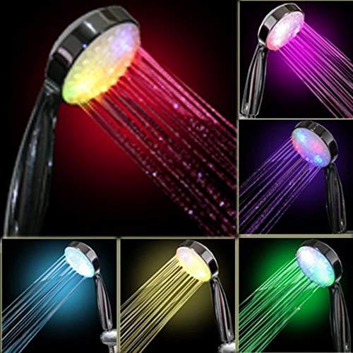 XXYWJF 7 Color Hower Home Bath Bath Rainbow Cambiando LED Ducha Cabeza Cuarto de baño Baño Productos de baño Cabezales de Ducha