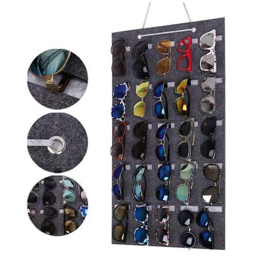 Ploufer-Sonnenbrille-Wand-hängende Beutel-Wand-Taschen-Glas-Anzeigen-Organisator, die an der Wand-Tür hängt