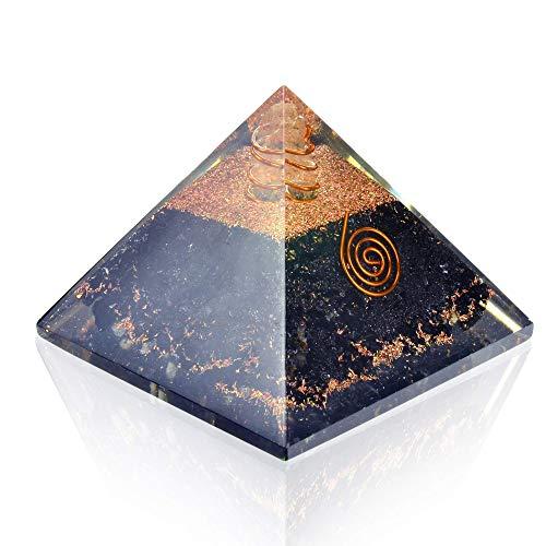 Orgonite Crystal Pyramid-Black Tourmaline-Crystal-Point-Chakra Balancing Orgone Energy Generator- Orgonite Pyramid for EMF Protection – Healing Crystal and Stones - Boost Immune System Meditation