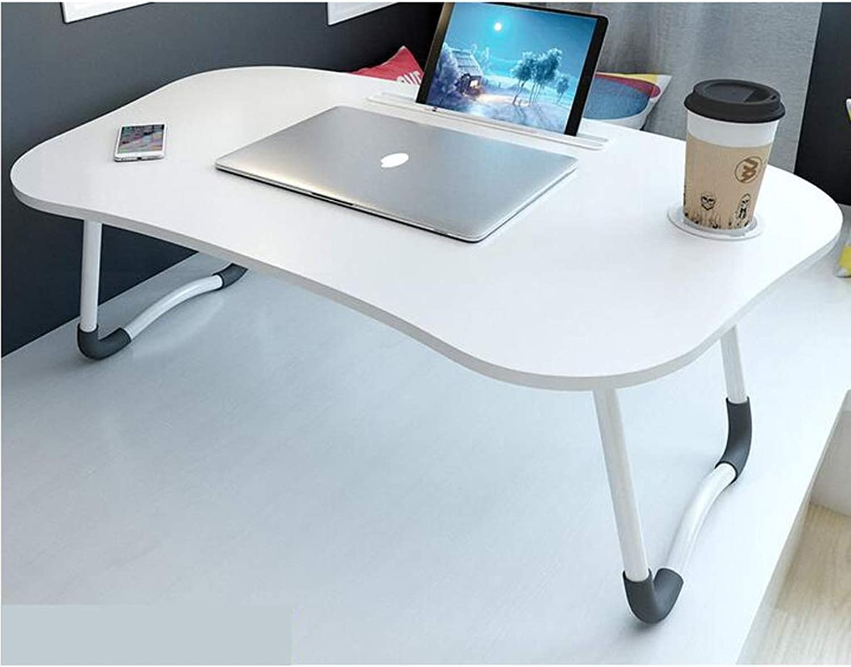 ASJHK Small Fiber Sheet Folding Table - Lightweight Bed Folding Table - Student Desk - 60 × 40 × 25cm Folding Table (color   A)