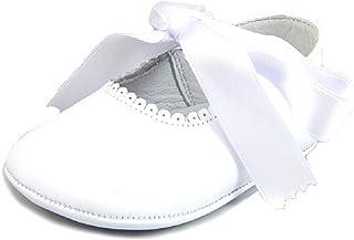 ba95855a3b2 De Osu - Girls White Leather Dress Crib Pram Shoes DO-154 (Infant)